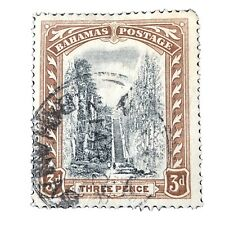 BAHAMAS, SCOTT # 59, 3p. VALUE 1917-19 QUEENS STAIRCASE  ISSUE USED