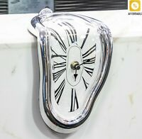 Wall Clocks Novel Surreal Melting Distorted Style Wall Watch Decoration Gift