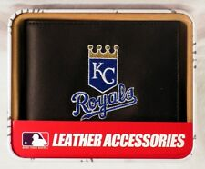 Kansas City Royals Embroidered Leather Billfold Wallet NEW in Gift Tin