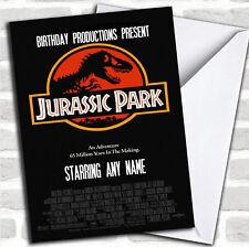 Spoof Jurassic Park Dinosaur Film Poster Funny Birthday Customised Card