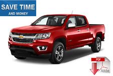 Chevrolet Colorado 2013 2014 2015 2016 Service Repair Manual on PDF