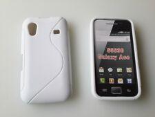 Weiß SAMSUNG Galaxy ACE S5830 Schutz Hüllen SILIKON CASE Handy Tasche Etui Cover