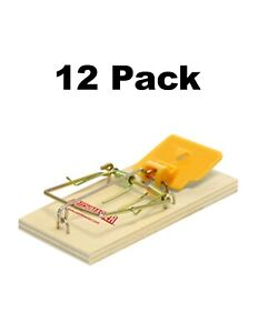 CATCHMASTER Great Easy Wooden Mouse Traps Fast Kill New trigger Design - 12 PACK
