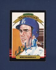 Mike Marshall signed Los Angeles Dodgers 1986 Donruss Diamond King baseball card