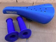 """New """"Old School Bmx"""" Hard Shell BLUE Seat with Grips GT DYNO Viscount Dominator"""