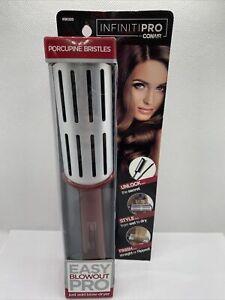 Infiniti Pro Conair Easy Blowout Pro Large Porcupine Bristles Hair Brush Maroon
