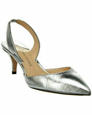 Paul Andrew Rhea 55 Leather Pump Silver S:8.5 RP $745