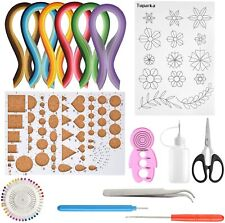 New listing Nice Quilling Kit Paper Filigree 600 Strips Awl Pen Board Curling Coach Diy