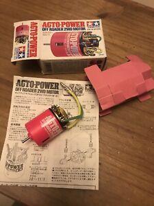 New Shelf Queen Tamiya Pink Acto Power Off Road 2wd Motor Vintage 53122 OP122