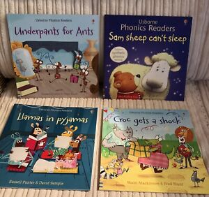 Usborne Phonics Readers Children's Book Bundle - X4 Books