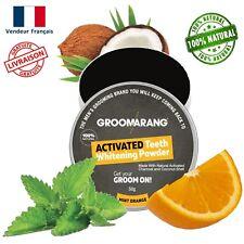 Poudre de charbon dent blanche - Groomarang ® Blanchiment des dents naturel