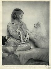 Famous Opera Singer And Spitz Dog Glamourous Sweet 1934 Vintage Dog Photo Print