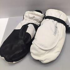 New listing Swany Toaster Ski Snowboard White/Black Leather Mittens Gloves Sz. Medium-Women