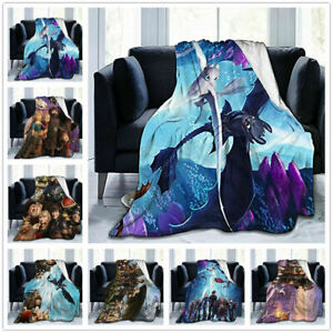 How to Train Your Dragon Blanket Sofa Throw Office Blanket  Soft Warm Bedspread