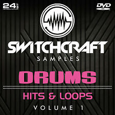 DRUMS - HITS AND LOOPS VOL 1 - 24BIT WAV STUDIO / MUSIC PRODUCTION SAMPLES - DVD