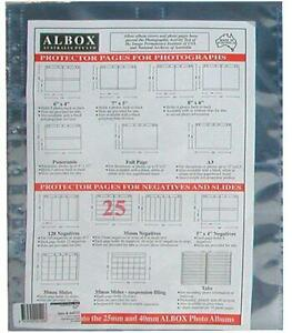 Albox archival 35mm negative 4-frame strip sleeves (25)
