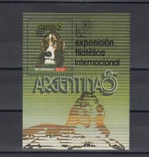 TIMBRE STAMP BLOC NICARAGUA Y&T#174 CHIEN DOG EXPO NEUF**/MNH-MINT 1985 ~A67