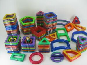 Lot Of 149 Magformers Magnetic Building Toys