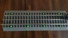 "NEW Green LED Lighted 10"" Bridge Track. Lionel FasTrack Straight (Fast Track)"