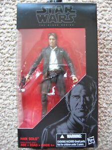 "StarWars HAN SOLO (#18) (Black series) 6 inch ""The Force Awakens"" Leia, REY"