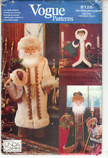 Vogue Father Christmas Dolls Robe Hat Mittens 3 Sizes Sewing Pattern 8126 Uncut