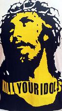 Kill Your Idols Rock Axl Rose Guns N Roses Jesus Christ white t shirt size L