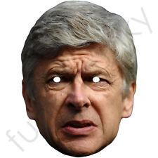 Arsene Wenger Arsenal manager Fútbol Tarjeta Máscara. todos nuestros máscaras son pre-corte!