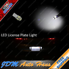 Super White 12V License Plate Tag LED T10 Wedge Light Bulb 192 W5W 2825 194 168
