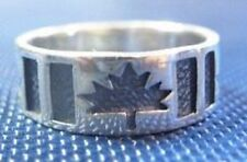 WOW Canada Day 150 Happy Birthday flag Maple leaf ring Sterling Silver 925 Jewel