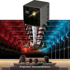 Mini Cube LED Portable Wireless Pocket WiFi DLP Multimedia Video Projector Home