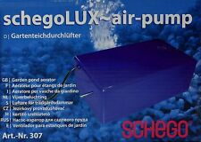 Schego Lux Air Pump 250l/h Luftpumpe Gartenteichdurchlüfter