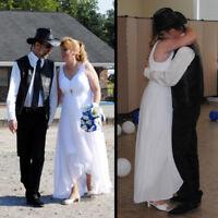 Ever-pretty Long V-neckWhite Bridesmaid Wedding Dress Homecoming Gown 09983