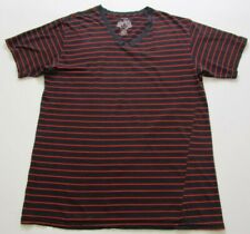 Last Hold Boy's Short Sleeve Tee T Shirt 3XL Multicolor Stripes V Neck Casual