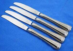 Lot of 4 GORHAM Stainless 18/8 MONET GLOSSY Modern Solid Dinner Knives