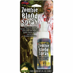 Fake Spray Blood Pump Action Halloween FX Make Up Horror Fancy Dress Horror Red