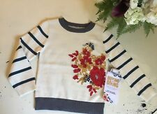 Girls Nwt Persnickety Floral Knit Polka Dot Striped Sweater Pullover 2 Years