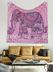 Authentic Tapestry Elephant Print Wall Hanging Ethnic Home Decor Cotton Bedsheet
