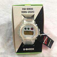 NEW IN BOX Casio G-Shock DW6900SP-7 Transparent Clear Watch Digital 25 anniversa