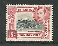 Album Treasures Kenya, Uganda, Tang. Scott # 72b 15c George VI Kilmanjaro MLH