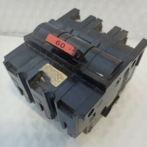 FEDERAL PACIFIC NA360 TYPE NA 3 POLE 60 AMP 240VAC CIRCUIT BREAKER