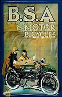 BSA Vintage Motorcycle embossed steel sign  300mm x 200mm (hi)