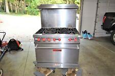 "36"" Vulcan 6 Burner Range Natural Gas Commercial Restaurant Oven"