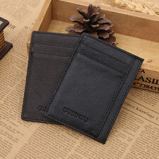 Men's PU Leather Slim Thin Credit Card Holder Mini Wallet ID Case Money Clip#