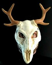 Animal Crâne Masque Effrayant Japonais God Visage Bois Halloween Cosplay