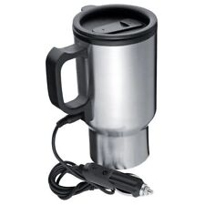 Jaguar Car Plug Heated Flask Hot Drinks Mug Cup Baby Thermos Stainless Steel New