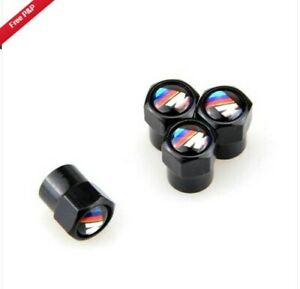 Set of 4 Black BMW M Sport Dust Caps