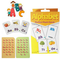 Kids Flash Cards A-Z Alphabet Learning Playing Game Children School Activity Set