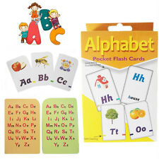 Tarjetas Flash A-Z Alfabeto Niños Aprendizaje Niños jugando juego conjunto de actividad de la escuela
