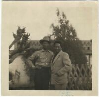 1952 African-American Man in Cool Shirt & Cowboy Hat Snapshot