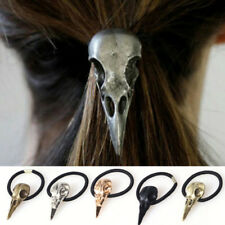 Halloween argento uccello teschio cool Fascia elastica per capelli cravatta